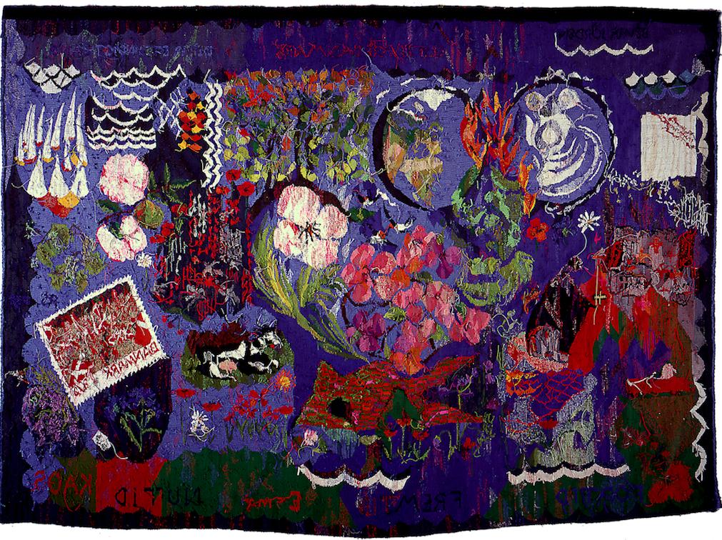 Bagsiden af Danmarkstæppet / Wrong side of The Denmark Tapestry